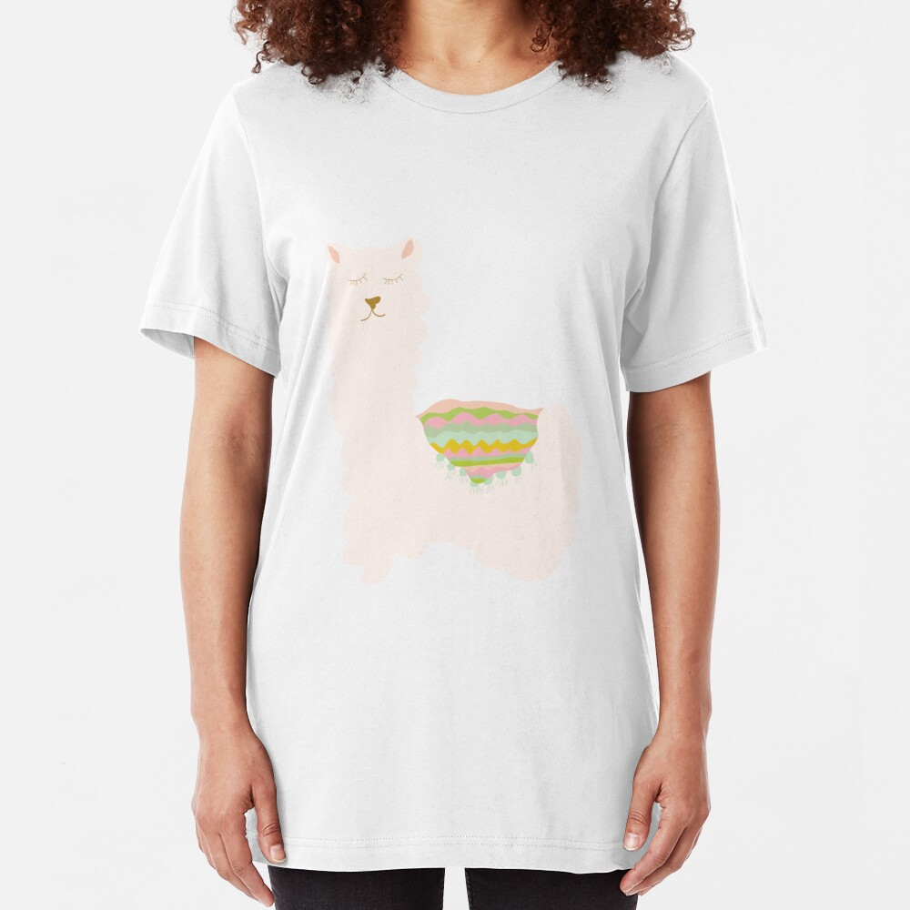 Llamas and Cacti Slim Fit T-Shirt