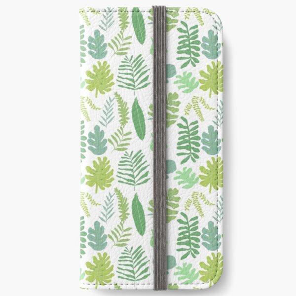 Tropical Leaves iPhone Wallet