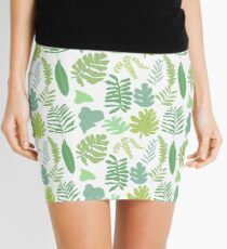 Tropical Leaves Mini Skirt