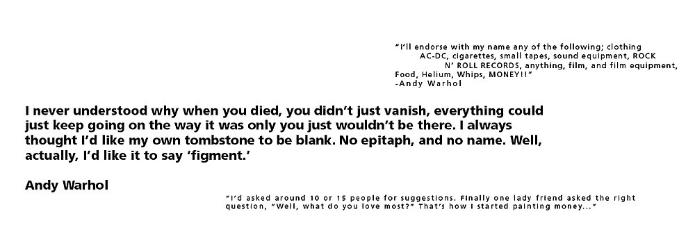 Warhol Excerpt Process Book by Michelle Side