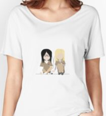 I Heart You - Alex and Piper Stylized Print Women's Relaxed Fit T-Shirt