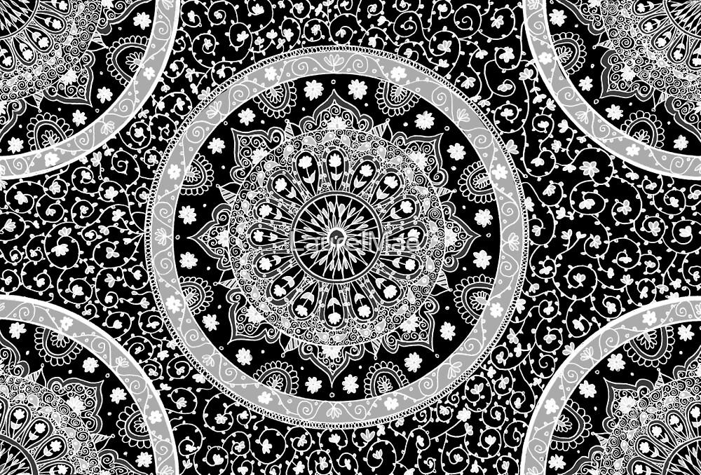 Black and White Mandala by LaurelMae