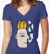 Feeling the heat Fitted V-Neck T-Shirt