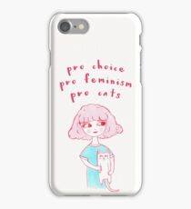 Pro-Choice, Pro-Feminism, Pro-Cats! iPhone Case/Skin