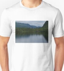Forecasting Rain - Forest Lake Reflections in Charlevoix, Quebec, Canada T-Shirt