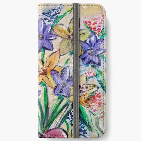 Wild Flowers for a Friend iPhone Wallet