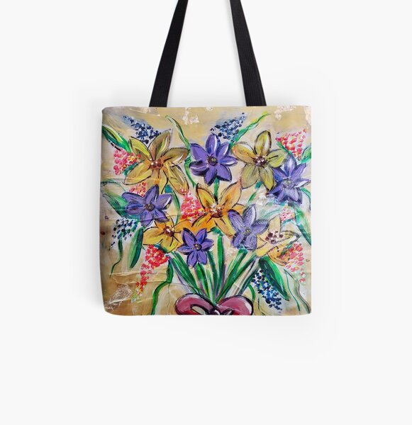 Wild Flowers for a Friend All Over Print Tote Bag