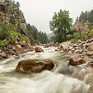 Fisherman's Panorama Colorado Canyon View by Bo Insogna