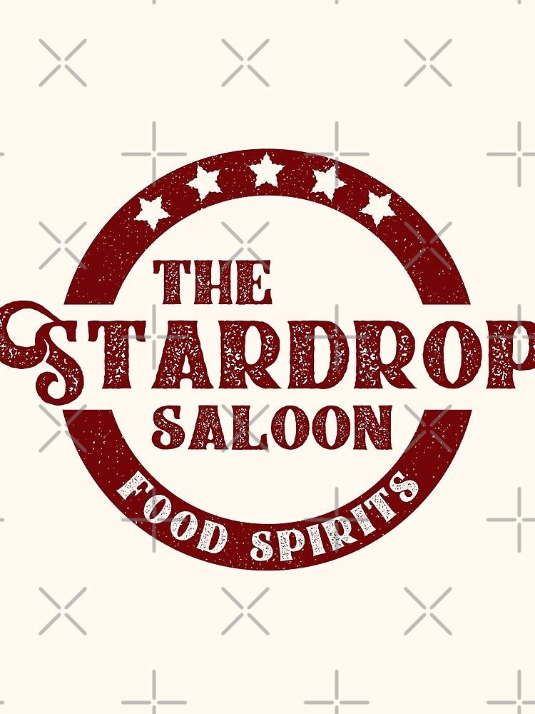 The Stardrop Saloon Pub Logo   Stardew Valley   Burgundy Logo by surik-