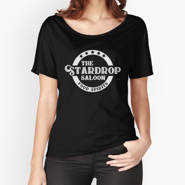 The Stardrop Saloon Pub Logo | Stardew Valley | White Logo Relaxed Fit T-Shirt