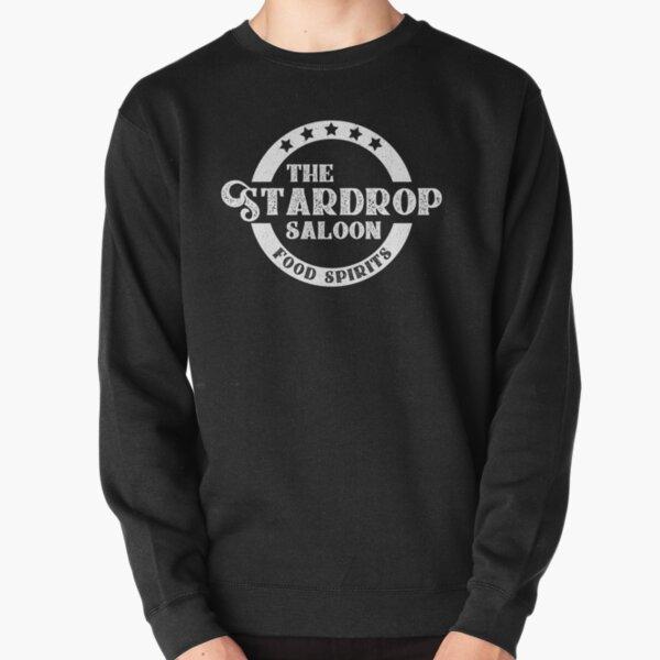 The Stardrop Saloon Pub Logo   Stardew Valley   White Logo Pullover Sweatshirt