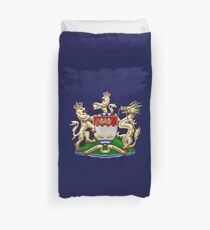 Hong Kong - 1959-1997 Coat of Arms over Flag  Duvet Cover