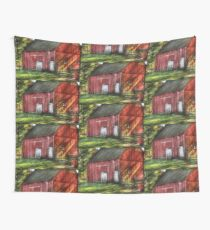 The old red barn Wall Tapestry