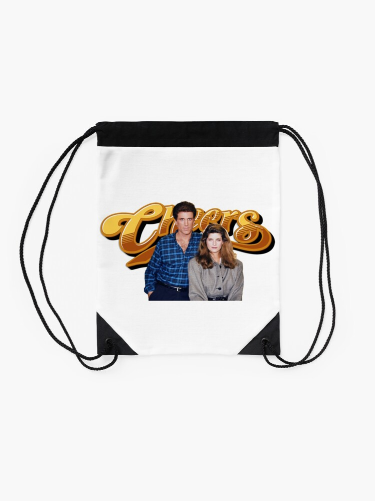 Alternate view of cheers television show Drawstring Bag