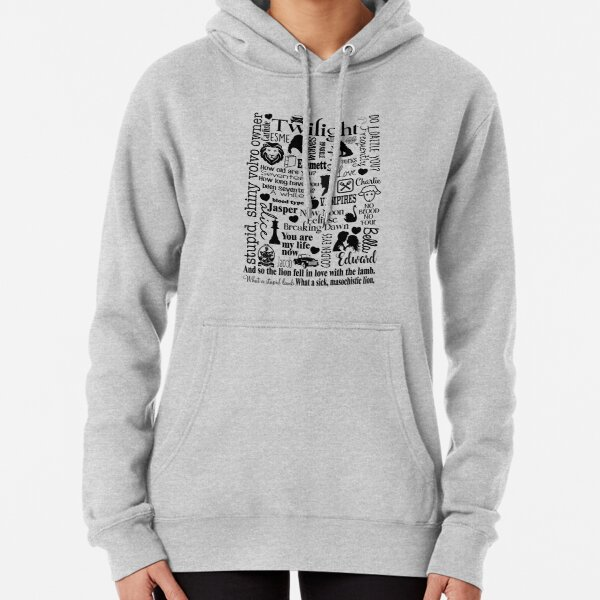 Twilight Themed Sub Way Art Graphic Pullover Hoodie