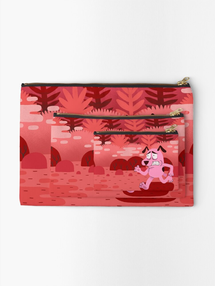 Alternate view of Fear and Courage Zipper Pouch