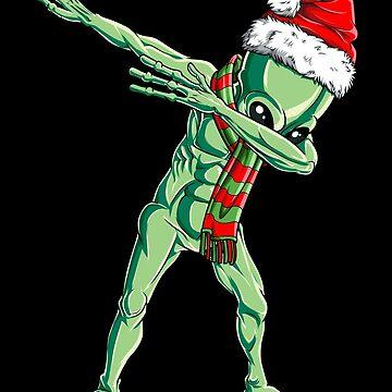 Dabbing Alien Santa T Shirt Navidad niños niños niñas regalos de LiqueGifts