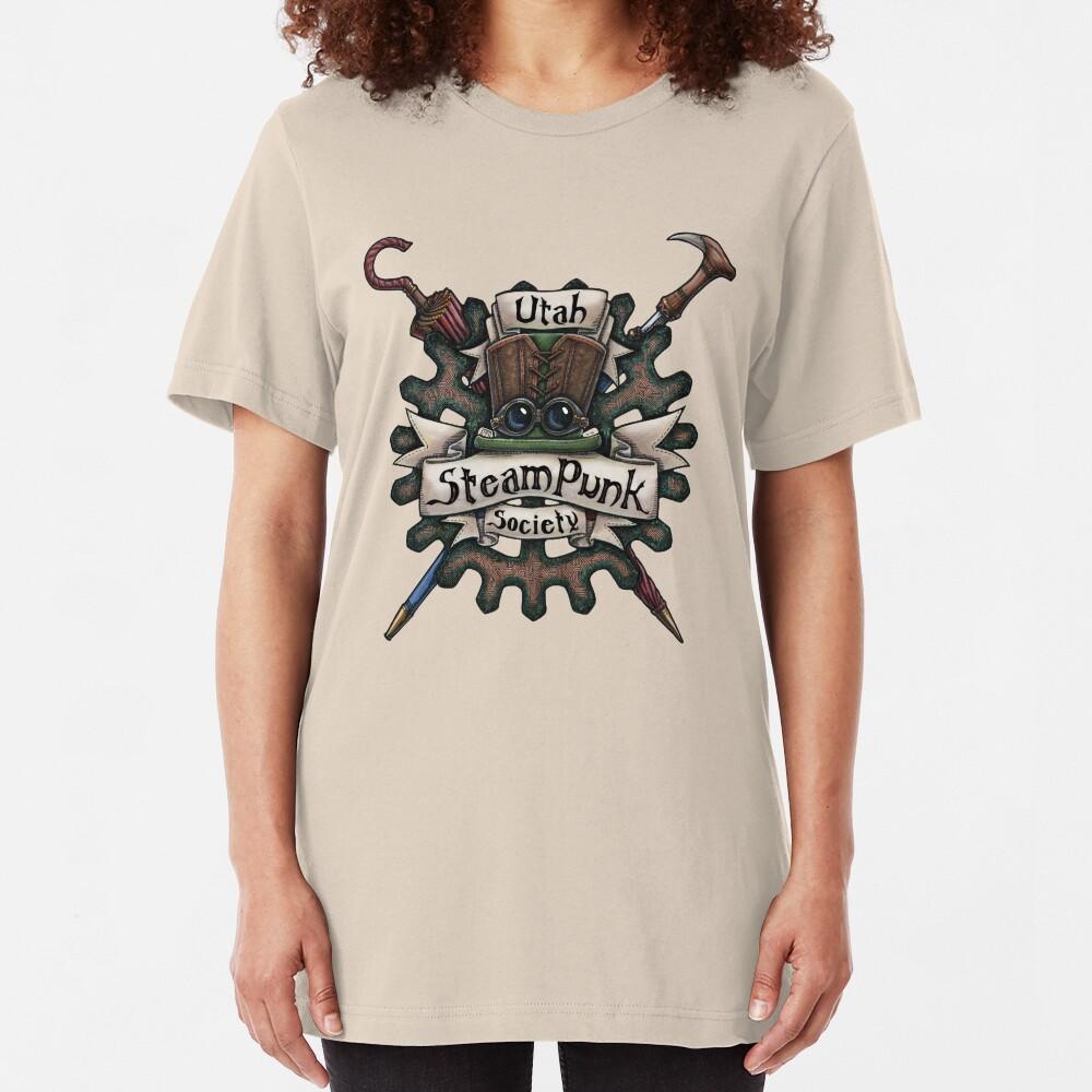 Utah Steampunk Society Logo Slim Fit T-Shirt