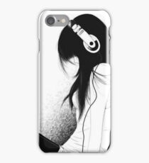 Emo Girl and her music  iPhone Case/Skin