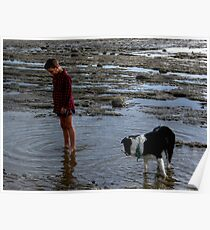 Joy is a boy, a dog and a rock pool.........! Poster