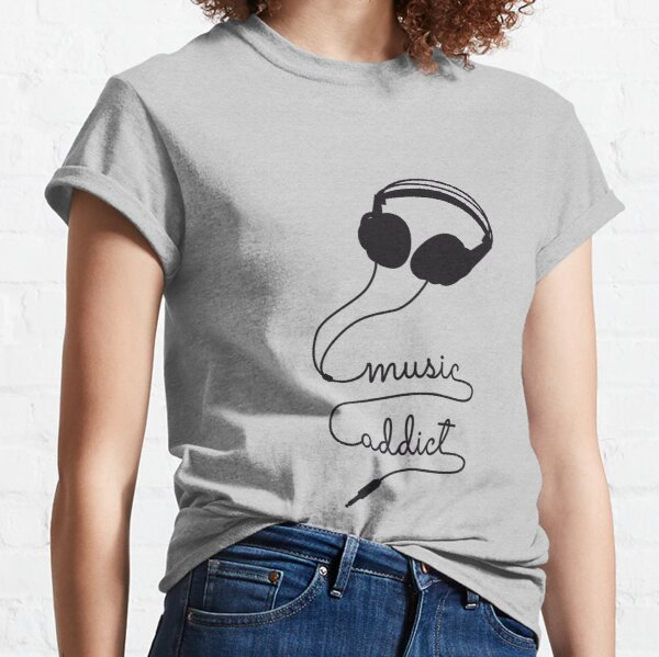 headphone music addict   Classic T-Shirt