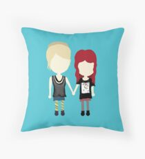 She's Rather Beautiful - Naomi and Emily Stylized Print Throw Pillow