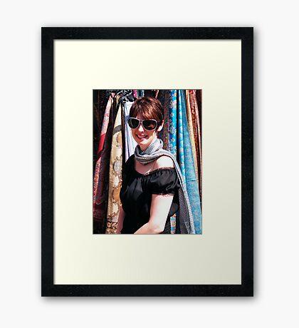 Scarf Girl Framed Print