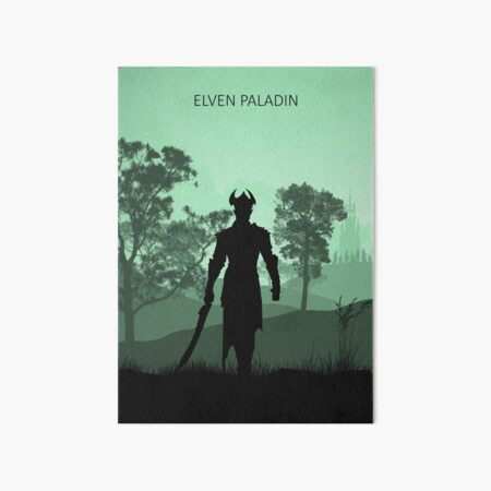 What's Your Class - Elven Paladin Art Board Print