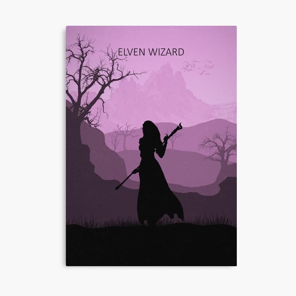 Was ist deine Klasse - Elven Wizard Leinwanddruck