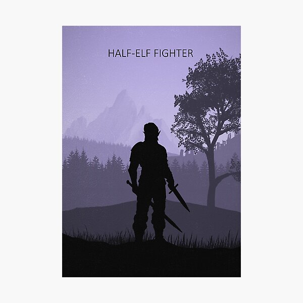 What's Your Class - Half-Elf Fighter Photographic Print
