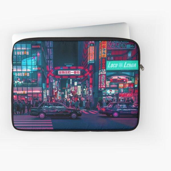 Cyberpunk Tokyo Street Laptop Sleeve
