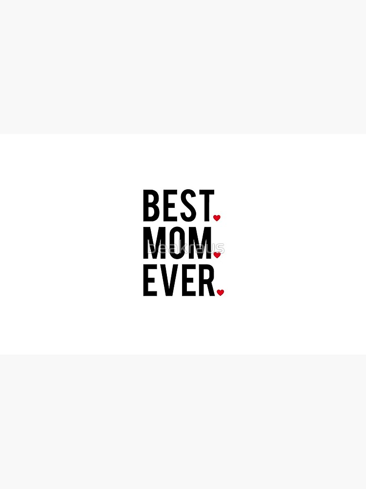 Best mom ever, word art, text design with red hearts  by beakraus