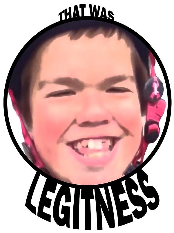 """Legitness"" Stickers By Barbz77"