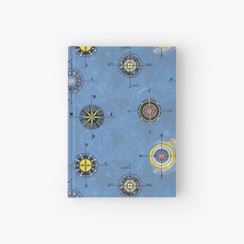 Navigating the waters Hardcover Journal
