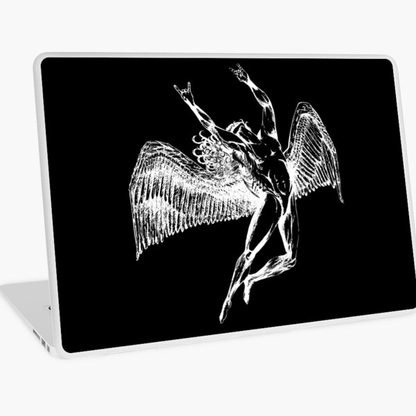 ICARUS THROWS THE HORNS - white ***FAV ICARUS GONE? SEE BELOW*** Laptop Skin
