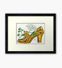 Pika-Shoe: Picky Pika with Plant Parasol & Posh Pad Framed Print