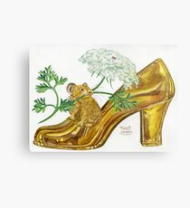Pika-Shoe: Picky Pika with Plant Parasol & Posh Pad Metal Print