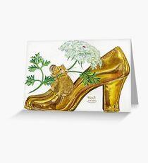 Pika-Shoe: Picky Pika with Plant Parasol & Posh Pad Greeting Card