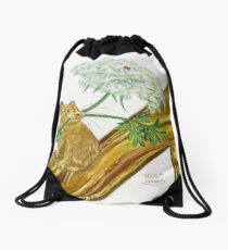 Pika-Shoe: Picky Pika with Plant Parasol & Posh Pad Drawstring Bag