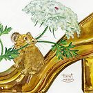 Pika-Shoe: Picky Pika with Plant Parasol & Posh Pad by HAJRA MEEKS