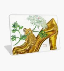 Pika-Shoe: Picky Pika with Plant Parasol & Posh Pad Laptop Skin