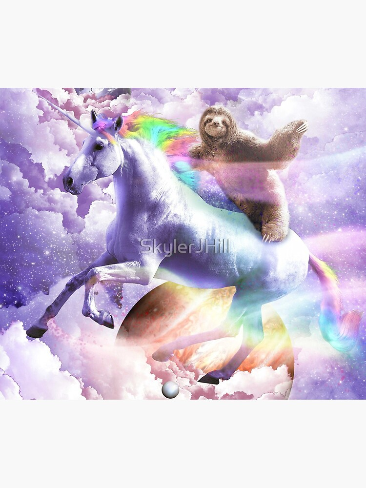 Epic Space Sloth Riding On Unicorn by SkylerJHill