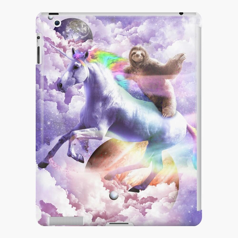 Epic Space Sloth Riding On Unicorn iPad Case & Skin