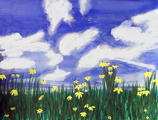 Flowers bright field, west of Port Charlotte, FL by Serenethos