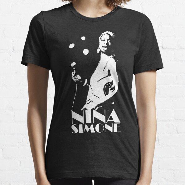 Nina Goddam Simone - White Stencil Essential T-Shirt