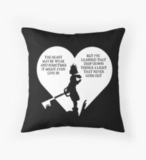 Kingdom hearts sora quote Throw Pillow