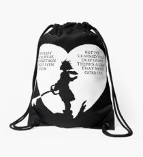 Kingdom hearts sora quote Drawstring Bag