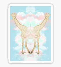 Giraffe in the Clouds Sticker