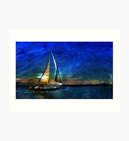 I sail to me Colleen Art Print