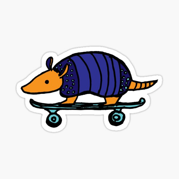 Armadillo Skateboarding Sticker